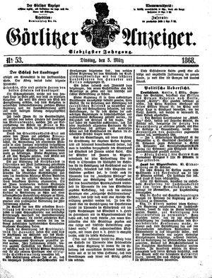 Görlitzer Anzeiger vom 03.03.1868