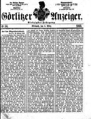 Görlitzer Anzeiger vom 04.03.1868