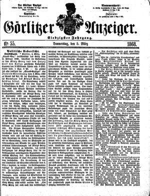Görlitzer Anzeiger on Mar 5, 1868