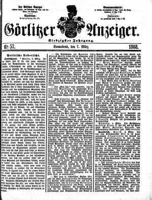 Görlitzer Anzeiger vom 07.03.1868