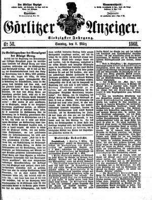 Görlitzer Anzeiger vom 08.03.1868