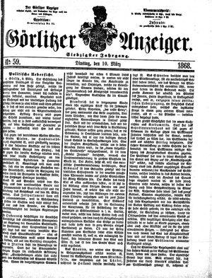 Görlitzer Anzeiger vom 10.03.1868