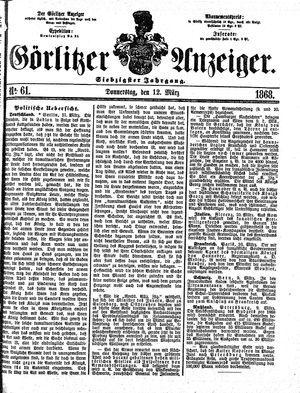 Görlitzer Anzeiger vom 12.03.1868