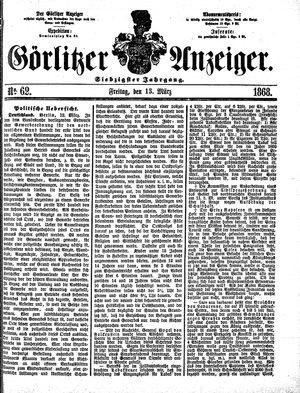 Görlitzer Anzeiger vom 13.03.1868