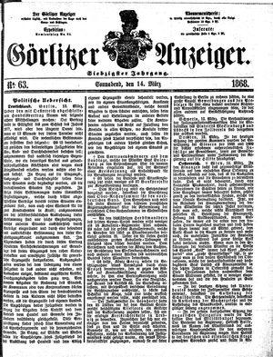 Görlitzer Anzeiger vom 14.03.1868