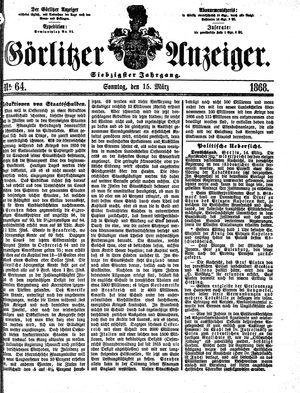 Görlitzer Anzeiger vom 15.03.1868