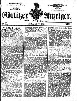 Görlitzer Anzeiger vom 17.03.1868