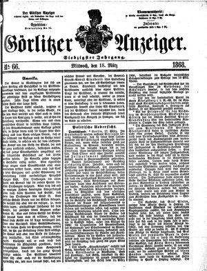 Görlitzer Anzeiger vom 18.03.1868