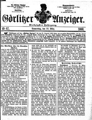 Görlitzer Anzeiger vom 19.03.1868