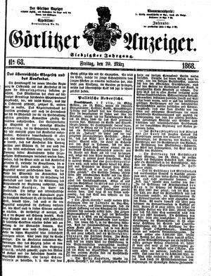 Görlitzer Anzeiger vom 20.03.1868