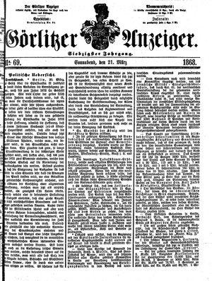 Görlitzer Anzeiger vom 21.03.1868
