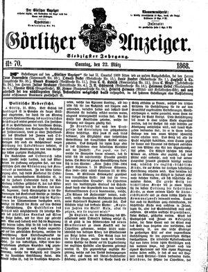 Görlitzer Anzeiger vom 22.03.1868