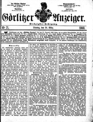 Görlitzer Anzeiger vom 24.03.1868