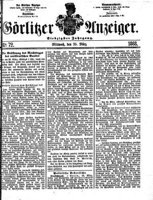 Görlitzer Anzeiger vom 25.03.1868