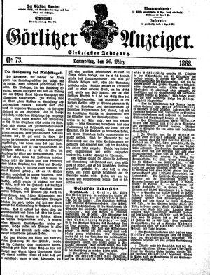 Görlitzer Anzeiger vom 26.03.1868