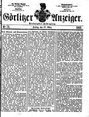Görlitzer Anzeiger vom 27.03.1868