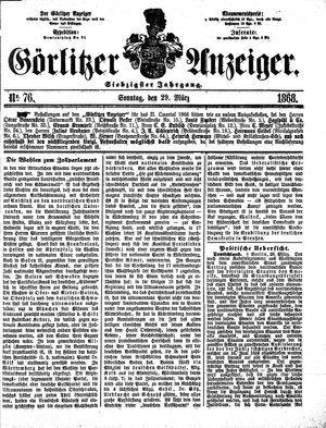 Görlitzer Anzeiger vom 29.03.1868