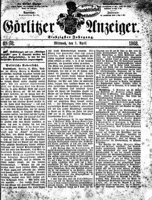 Görlitzer Anzeiger vom 01.04.1868