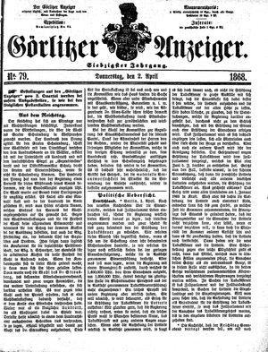 Görlitzer Anzeiger vom 02.04.1868