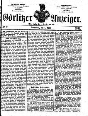 Görlitzer Anzeiger vom 04.04.1868