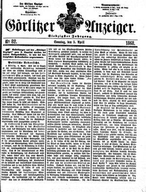 Görlitzer Anzeiger vom 05.04.1868
