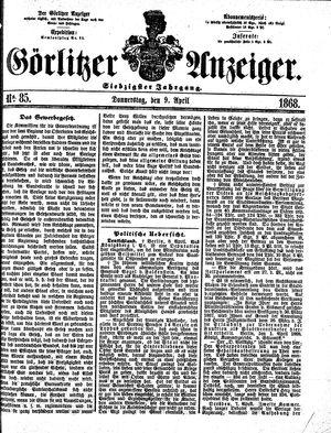 Görlitzer Anzeiger on Apr 9, 1868
