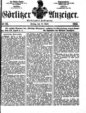 Görlitzer Anzeiger vom 10.04.1868
