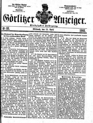 Görlitzer Anzeiger vom 15.04.1868