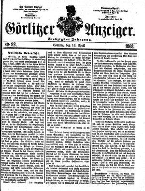 Görlitzer Anzeiger vom 19.04.1868