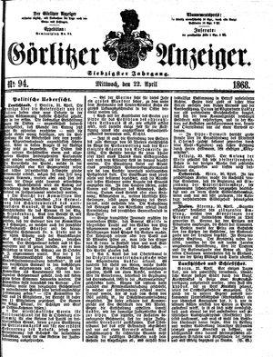 Görlitzer Anzeiger vom 22.04.1868