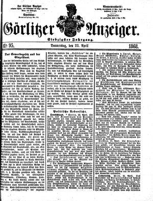 Görlitzer Anzeiger vom 23.04.1868