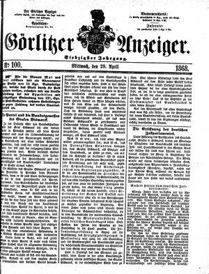 Görlitzer Anzeiger on Apr 29, 1868