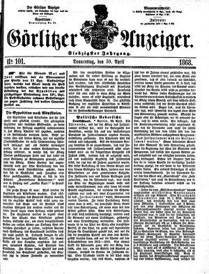 Görlitzer Anzeiger vom 30.04.1868