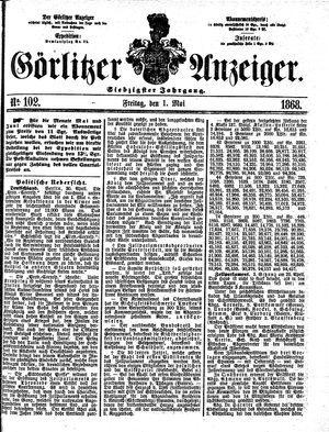 Görlitzer Anzeiger vom 01.05.1868
