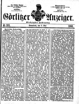 Görlitzer Anzeiger vom 02.05.1868