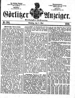 Görlitzer Anzeiger vom 03.05.1868