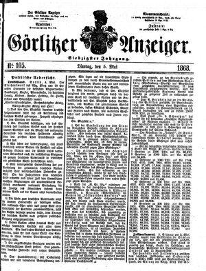 Görlitzer Anzeiger vom 05.05.1868