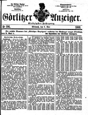 Görlitzer Anzeiger vom 06.05.1868