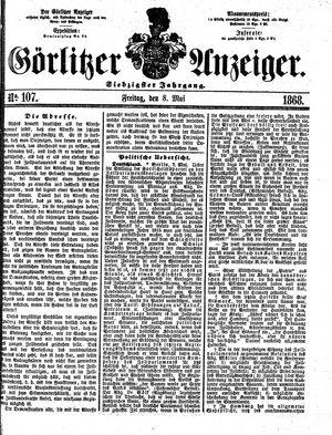 Görlitzer Anzeiger vom 08.05.1868