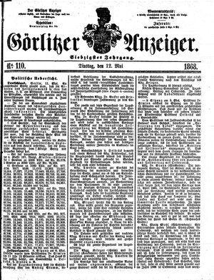 Görlitzer Anzeiger vom 12.05.1868