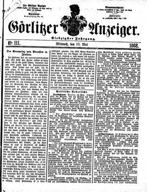 Görlitzer Anzeiger vom 13.05.1868