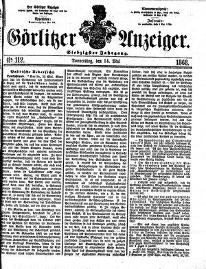 Görlitzer Anzeiger vom 14.05.1868