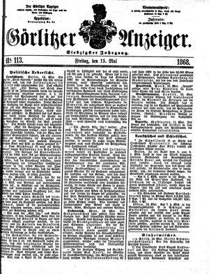 Görlitzer Anzeiger vom 15.05.1868