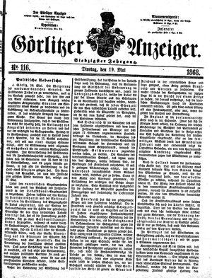 Görlitzer Anzeiger vom 19.05.1868