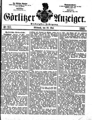 Görlitzer Anzeiger vom 20.05.1868
