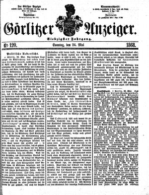 Görlitzer Anzeiger vom 24.05.1868