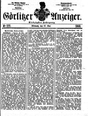 Görlitzer Anzeiger vom 27.05.1868
