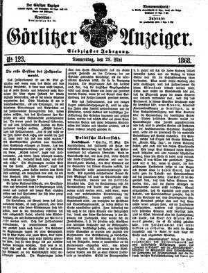 Görlitzer Anzeiger vom 28.05.1868