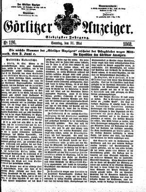 Görlitzer Anzeiger vom 31.05.1868