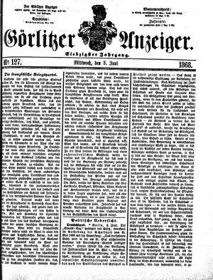 Görlitzer Anzeiger vom 03.06.1868